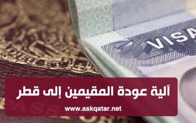 ما يخص تصاريح العودة وتجديد الإقامات للمقيمين في دولة قطر